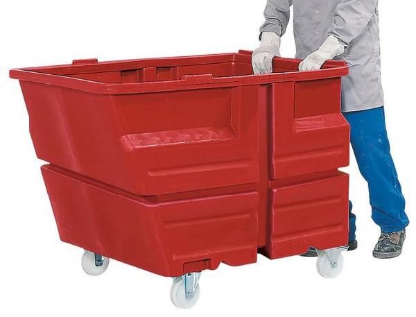 Kippbehälter mit Rollen, 800 L, 1030x1340x900mm, PE, verschiedene Farben