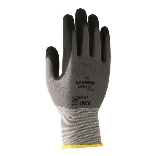 uvex Schutzhandschuhe unilite 7700 grau/schwarz für mechanische Präzisionsarbeiten