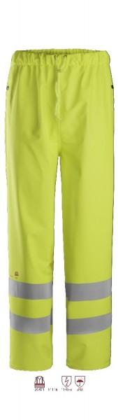 Snickers Workwear 8267 ProtecWork Regenhose PU signalgelb, antistatisch, Warnschutz Klasse 2