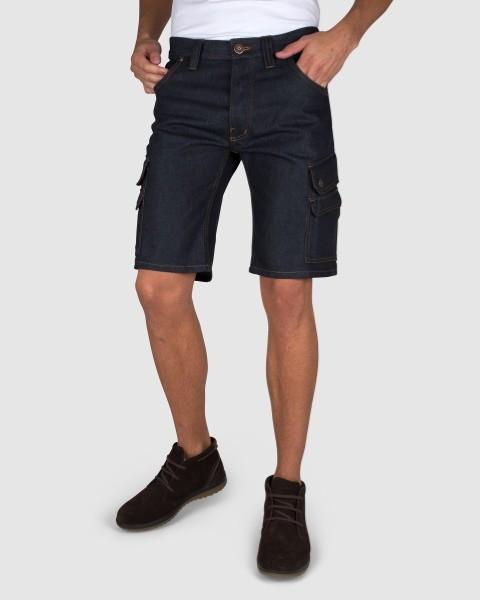 Dunderdon Berufsbekleidung Original Line Arbeits-Shorts P60S mit Leder Aufnäher
