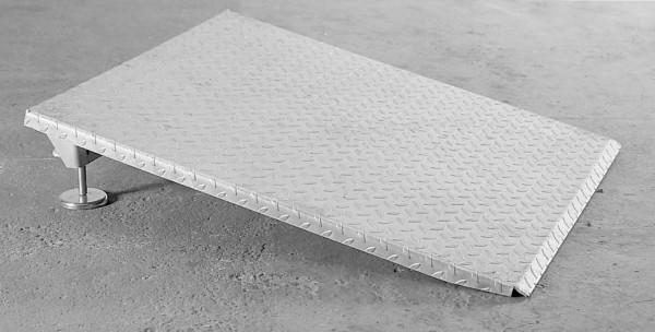 Auffahrrampe höhenverstellbar aus Stahl verzinkt