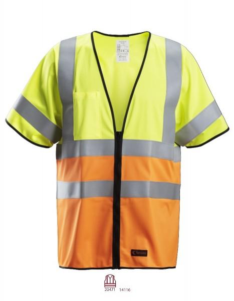 Snickers Workwear 4361 ProtecWork Kurzarm-Weste Flammhemmend, Warnschutz Klasse 3