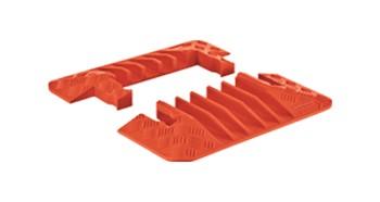Checkers Guard Dog General Purpose 5-Kanal-Kabelschutz Endkappen, orange, 22x50x5cm