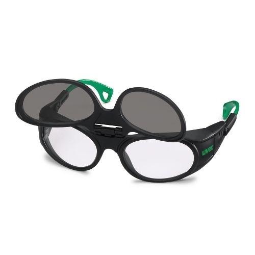uvex Schweißerschutzbrille 9104041 Flip-Up, PC farblos, PC grau, Schutzstufe 1,7