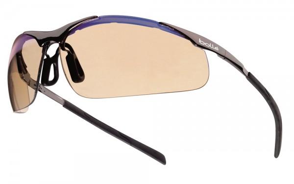 bolle Schutzbrille CONTOUR METALL - CONTMESP mit ESP PC, Komfort-Nasenbügel