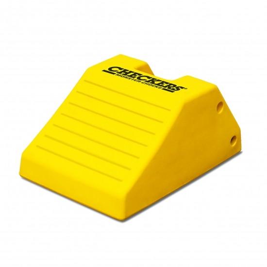 Checkers Monster Chocks Schwerlast-Unterlegkeil MC3012, gelb, 55 x 37 x 27 cm