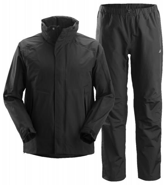 Snickers Workwear 8378 Wasserdichtes Set, Arbeitshose und Arbeitsjacke schwarz, EN 343