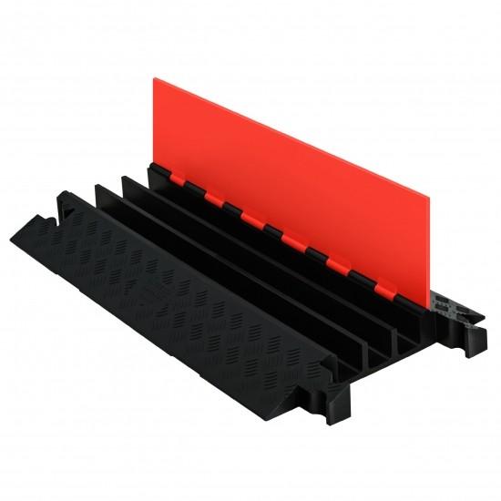 Checkers Guard Dog General Purpose 3-Kanal-Kabelschutz, Klappdeckel, orange/schwarz