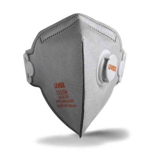 uvex Atemschutzmaske silv-Air c 3220 FFP2 NR D, Faltmaske mit Ventil und Carbon