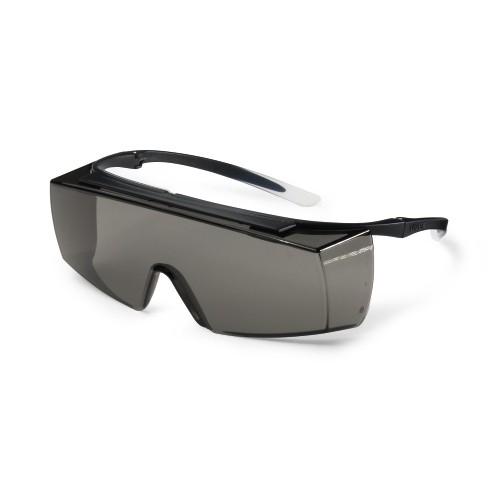 uvex Überbrille super f OTG, 9169586, schwarz/weiß, PC grau, Sonnenschutz