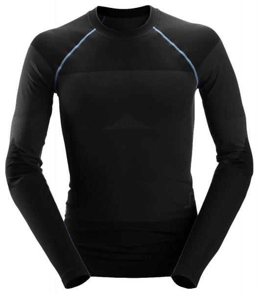 Snickers Workwear 9418 LiteWork Nahtloses 37.5 Langarm-Shirt, schwarz/grau