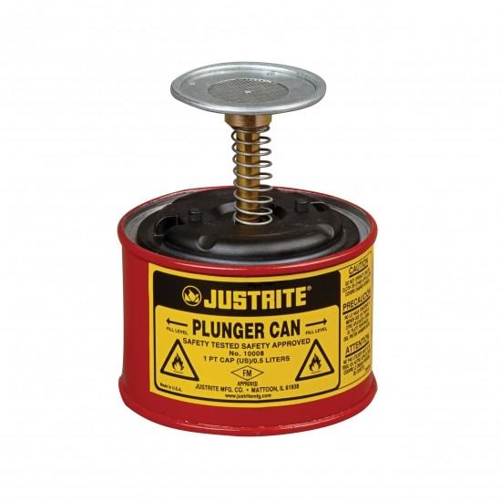 Justrite Sicherheits-Sparanfeuchter 2 Liter, Dasher Ø 128 mm, Stahl Pulverbeschichtet