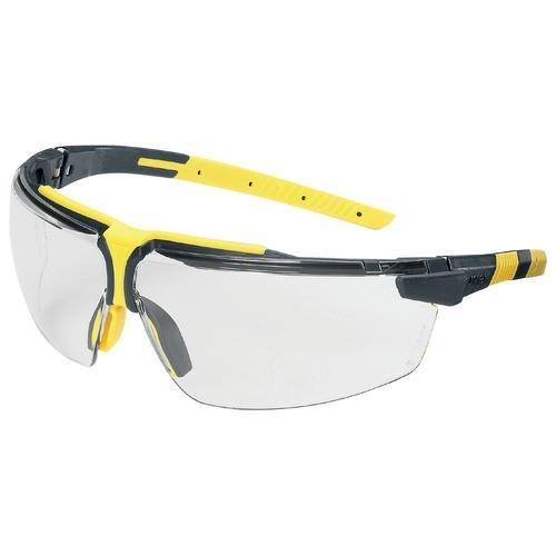 uvex Schutzbrille 9190225 i-3 anthrazit/gelb, PC farblos, kratzfest, beschlagfrei