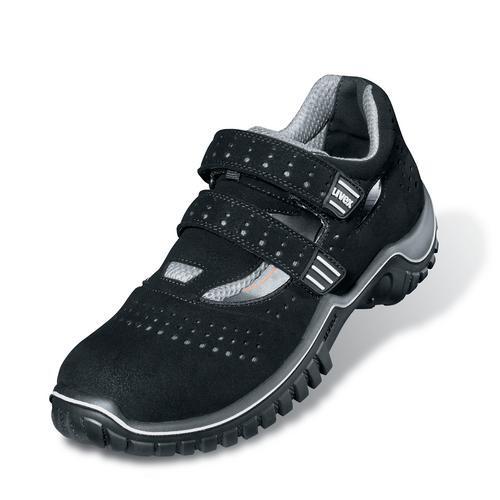 Sicherheitsschuhe uvex motion style Sandale S1P SRC, Modell 6975, schwarz/silber