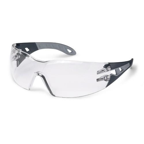 uvex Schutzbrille 9192785 pheos s, schmal, anthrazit/grau, PC farblos, beschlagfrei, kratzfest