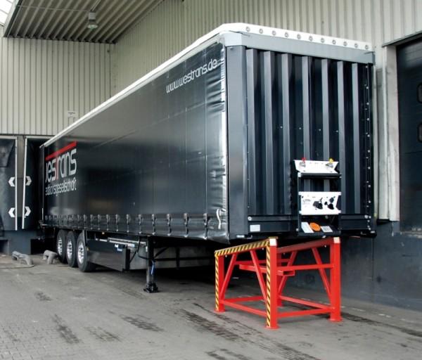Bauer Verladestütze Typ VS aus Stahl für die Be- und Entladung von Sattelaufliegern bis 2,5 t
