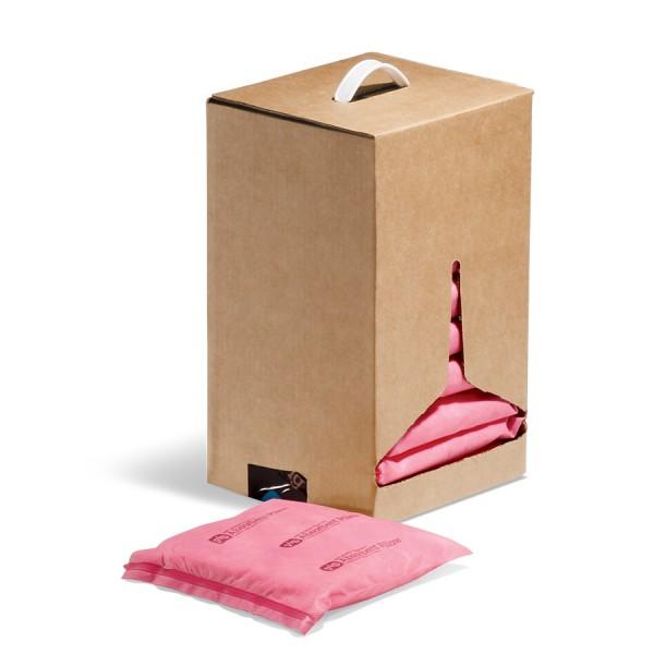 HazMat Saugkissen, rosa, 20 x 20 x 3 cm, 10 Kissen im Karton