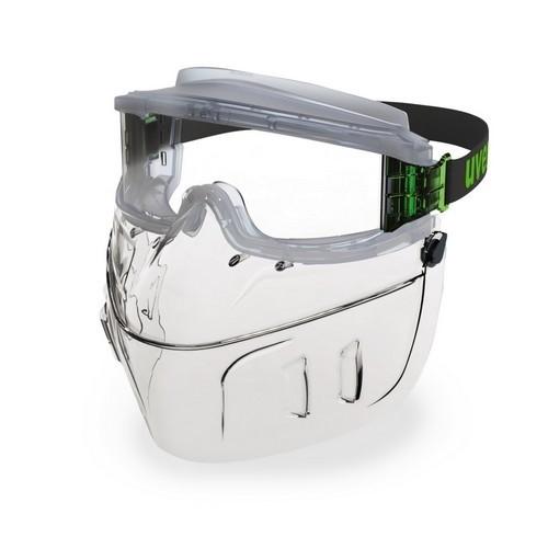 uvex Vollsichtbrille 9301555 ultravision faceguard mit Mundschutz, PC farblos, kratzfest