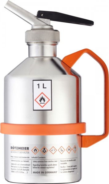 Rötzmeier Sicherheitskanne Typ 01D, 1 L, poliert