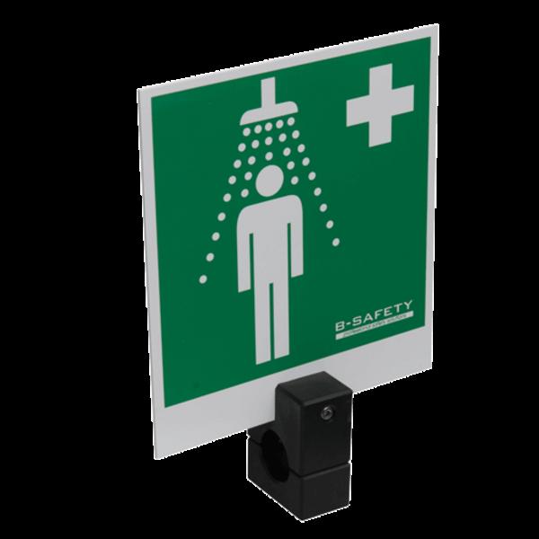 B-Safety Hinweisschild BR 870 150 für Notduschen, 150 x 150mm, Duscharm-Montage