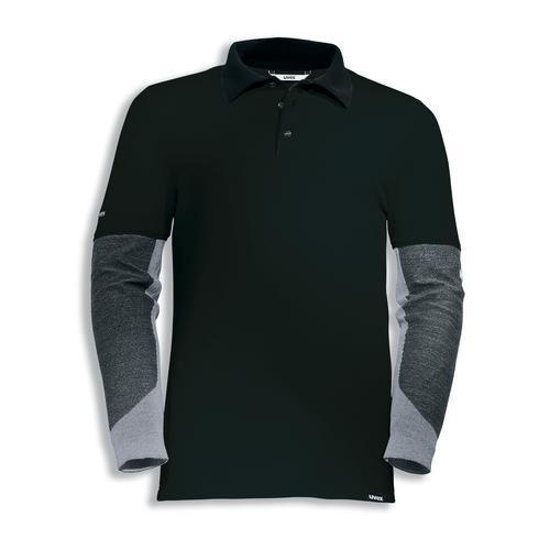 uvex Schutzbekleidung cut doubleflex Poloshirt 7925 schwarz mit Schnittschutzärmeln