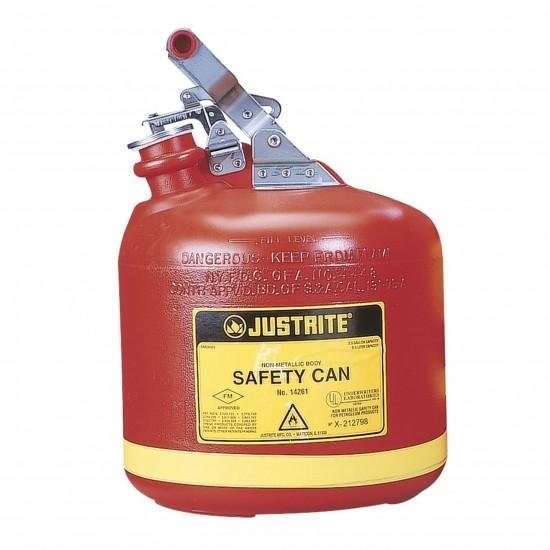 Justrite Poly-Sicherheitsbehälter Typ I, 9,5 Liter, rund, rot