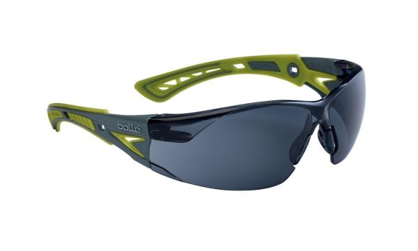 bolle Schutzbrille RUSH+ SMALL - RUSHPSPSFL, Rauchglas, gelb/grau, für schmale Gesichter