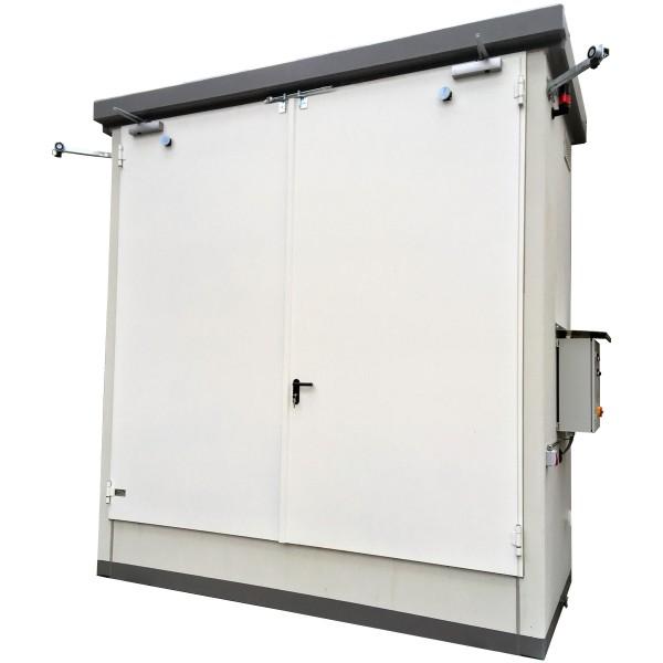Brandschutz-Regallager für 4 IBC oder 6 EUR-Paletten zur Aufstellung im Freien