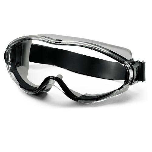 uvex Vollsichtbrille 9302281 ultrasonic mit Neoprene-Kopfband, schwarz/grau, PC farblos