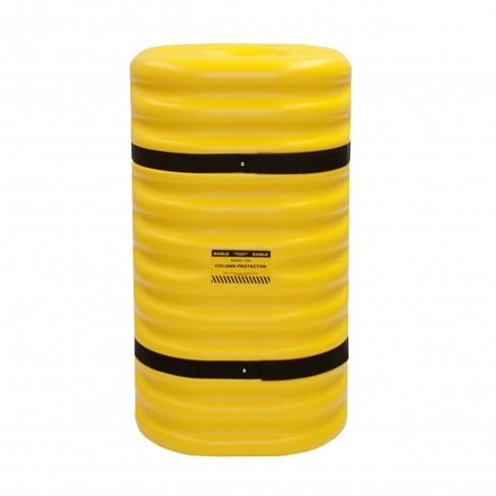 Eagle 1710 Säulenschutz, 61 x 61 x 106,7 cm, HDPE, gelb, für 25 cm Säulen