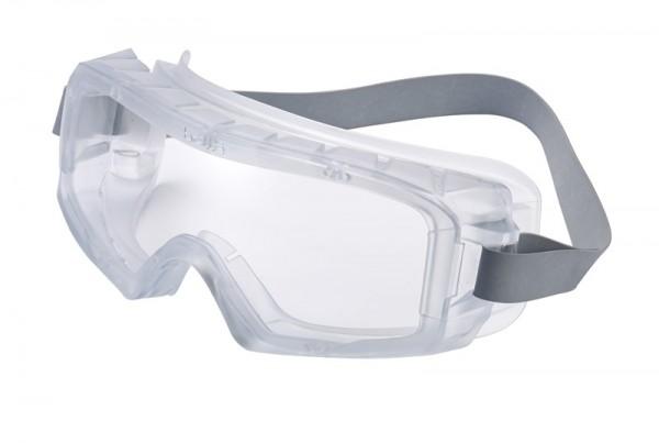 bolle Schutzbrille COVERALL - COVACLEAN Vollsichtschutzbrille, PVC Gestell, klares PC, Kopfband