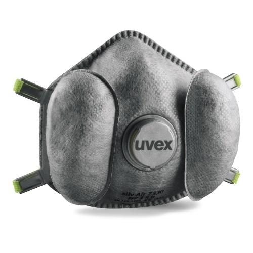 uvex Atemschutzmaske silv-Air High-Performance 7330 FFP3 R D, mit Ventilen