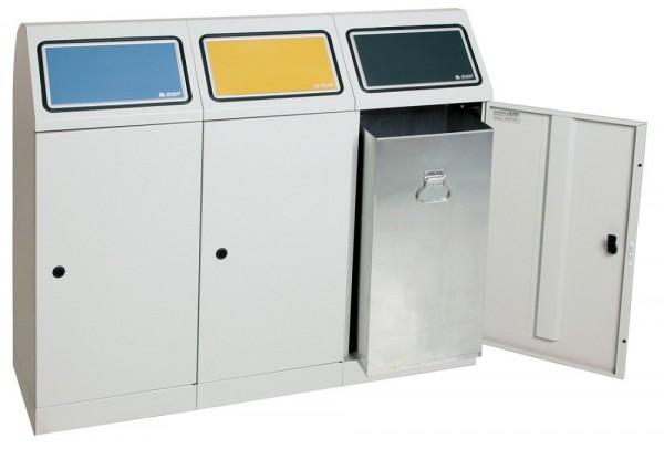 Stumpf Metall Abfalltrennung Flex-M, 3-fach Station, verzinkter Innenbehälter, 70 Liter