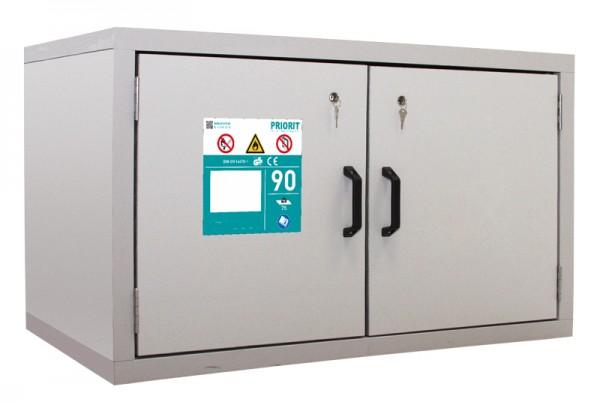 Priorit Untertisch-Sicherheitsschrank Priocab Typ90, EN92U:067-110-1A, 2-flügelig, 1 Vollauszug