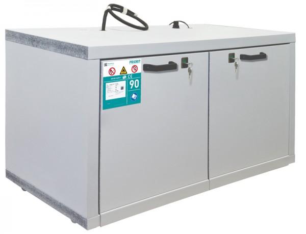 Priorit Untertisch-Sicherheitsschrank Priocab Typ90, EN90U:063-110-2AFS mit zwei Vollauszügen