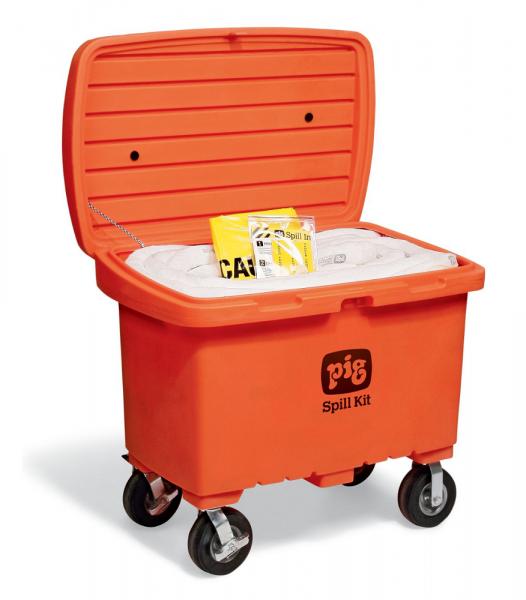 Notfallkit in auffälliger Transportkarre mit No-Flat-Reifen, Oil-Only KIT480