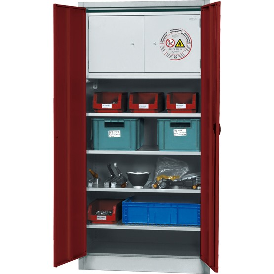 Materialschrank E-CLASSIC-MF Modell EM.195.095.F mit Typ 30 Sicherheitsbox