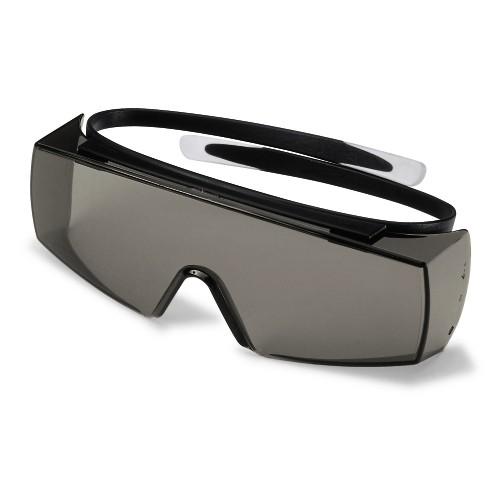 uvex Überbrille 9169081 super OTG, schwarz, PC grau, Sonnenschutz, Chemikalienbeständig