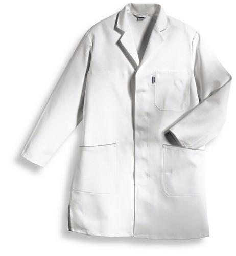 uvex Berufsbekleidung whitewear Herrenmantel weiß Modell 414 aus Baumwolle