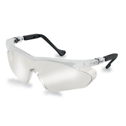 uvex Schutzbrille 9197880 skyper sx2 schwarz, PC verspiegelt silber