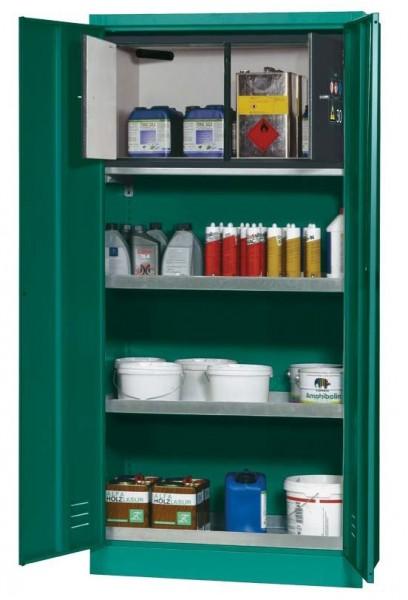 Pflanzenschutzmittelschrank E-PSM-UF Modell EP.195.095.F2, Inneneinrichtung, Typ 30 Box