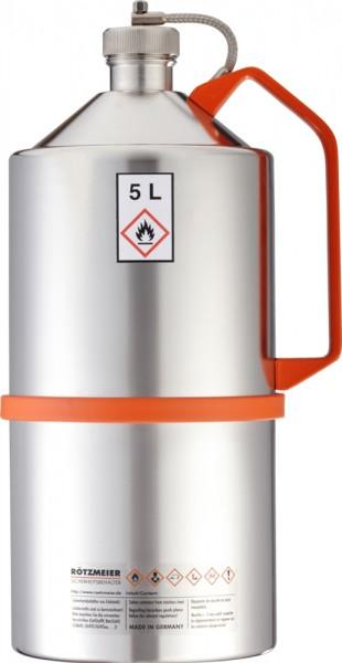 Rötzmeier Sicherheitskanne Typ 05K, 5L, poliert