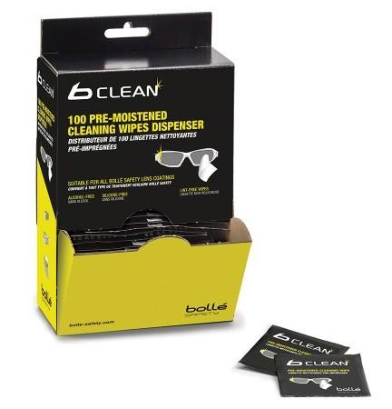 bolle B-CLEAN Reiniger B100 - PACW100 Wandspender mit 100 Reinigungstüchern