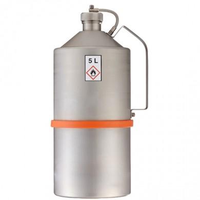 Sicherheits-Transportkanne 5 Liter Edelstahl Rötzmeier mit Schraubkappe