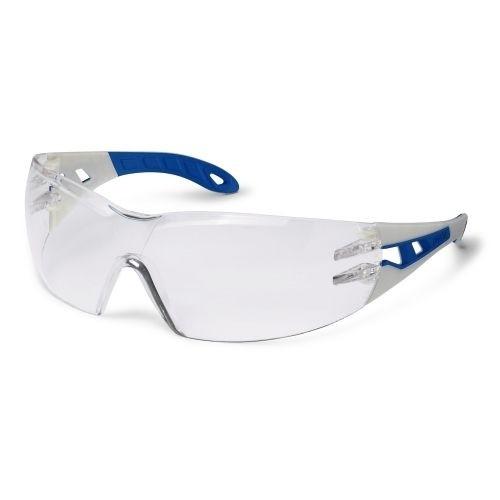 uvex Schutzbrille 9192765 pheos blue, sand/blau, PC farblos, metallfrei, beschlagfrei, kratzfest