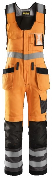 Snickers Workwear 0213 High-Vis Warnschutz Kombi-Arbeitshose, EN 20471 Klasse 2