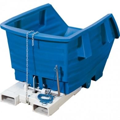 H.13062 - Kippbehälter Polyethylen blau, ohne Rollen, 750 Liter 1150 x1650 x 890