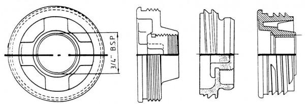Gewindeadapter für Kugelhähne