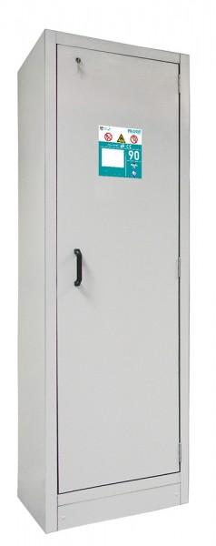 Priorit Sicherheitsschrank Priocab Typ90, EN91-196-060-VA, 1-flügelig, 3 Wannenböden, Edelstahl