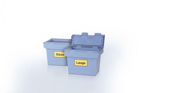 Kunststoff - Chemikalienboxen 410 x 300 x 260 mm